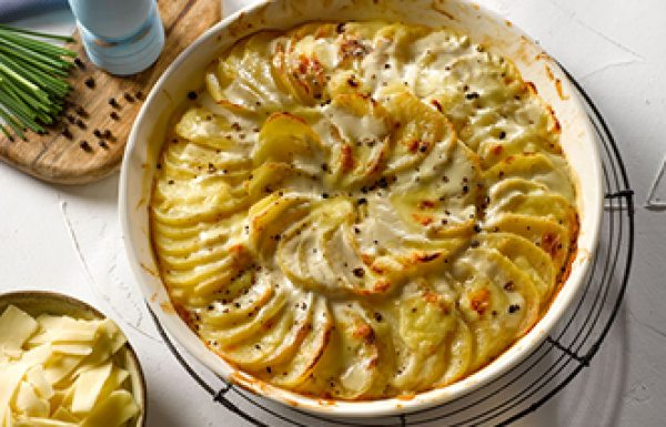תפוחי אדמה מוקרמים באלפרדו וגרייר