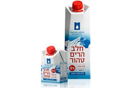 חלב הרים טהור 1% ליטר+ 500 מ״ל