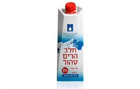 חלב הרים טהור 1% שומן – 1 ליטר