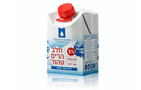 חלב הרים טהור 1% שומן – 0.5 ליטר