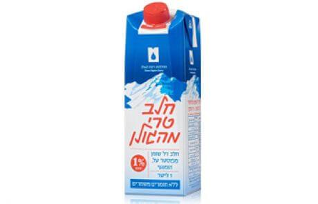 חלב טרי מהגולן 1% 1 ל׳