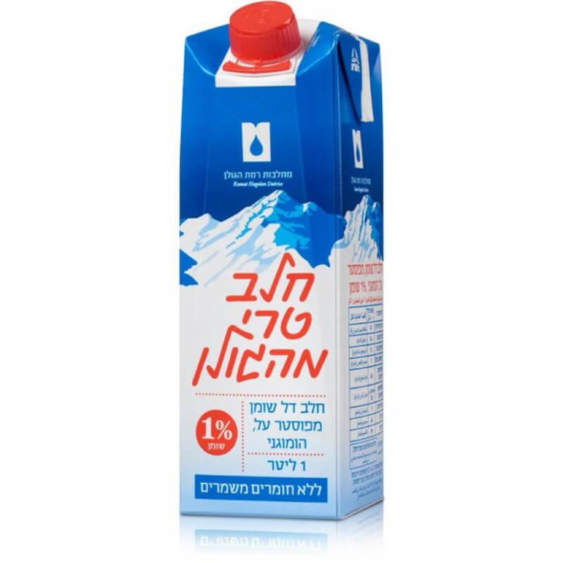 חלב טרי מהגולן 1% - 1 ליטר