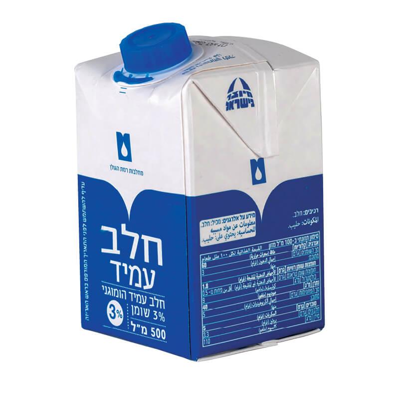 חלב עמיד 3% ליטר