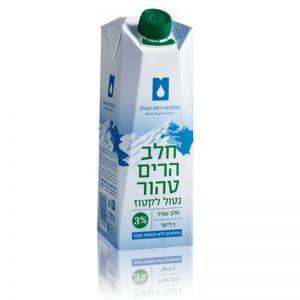 חלב הרים טהור נטור לקטוז 3%